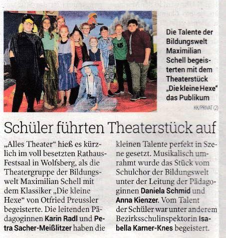 Bericht in der Kleinen Zeitung am 08.06.2017
