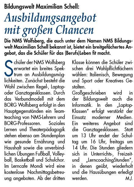 Aus- und Weiterbildung: Wolfsberger Zeitung Nr. 489 - Feber 2018