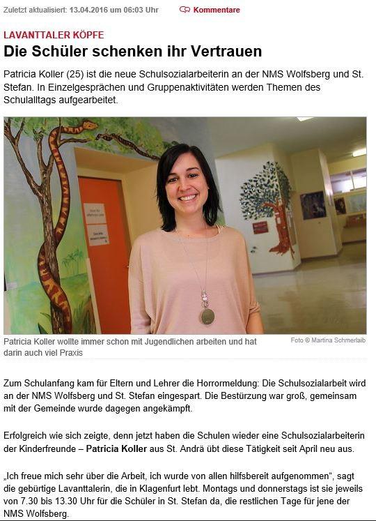 Kleine Zeitung 13.04.2016