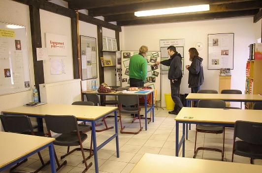 Klassenzimmer der Straßenschule