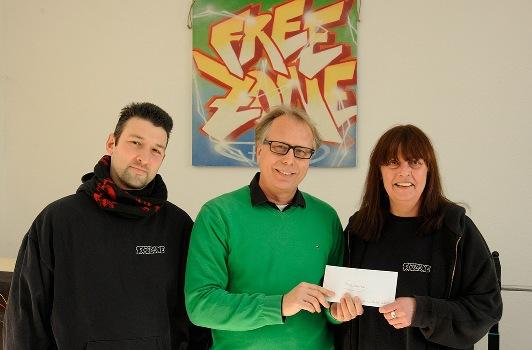 Spendenübergabe durch Präsident Ralf Busch