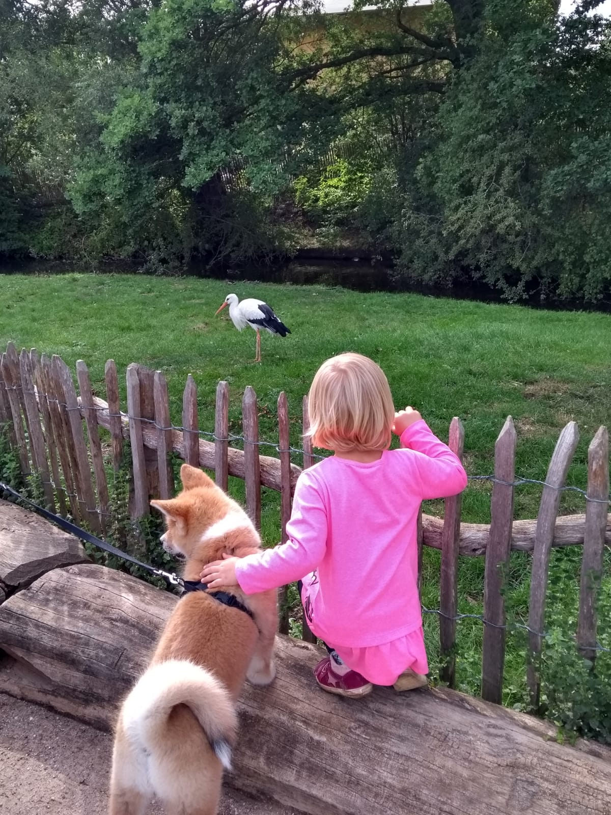Yumiko im Zoo mit Enkelkind Mayla