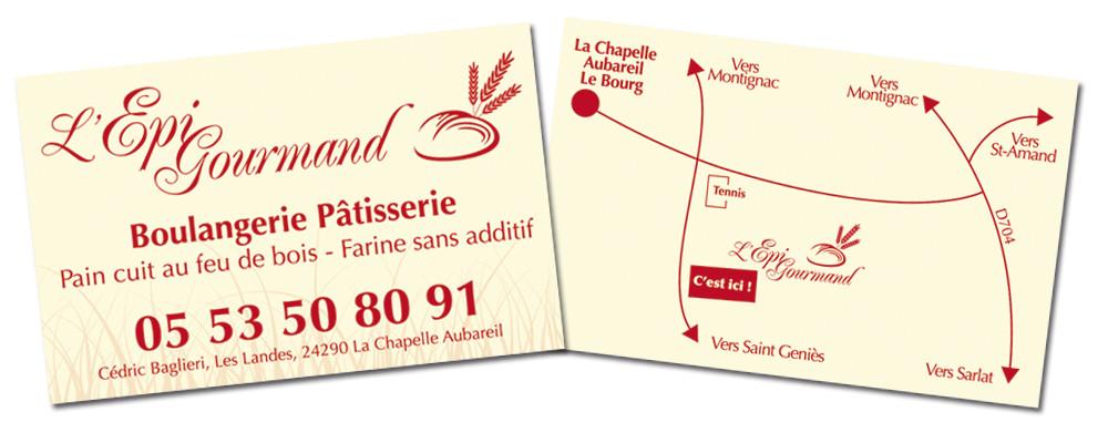 Carte De Visite Recto Verso Epi Gourmand