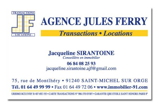 Carte De Visite Agence Jules Ferry