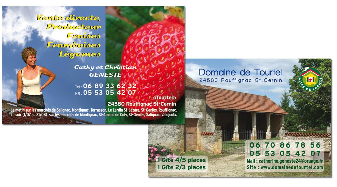 Carte De Visite Recto Verso Ferme Tourtel