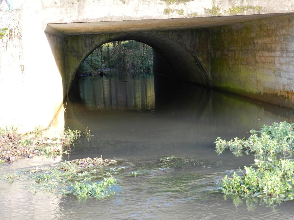 Sous ce pont une plaque indique 72 m au dessus du niveau de la mer