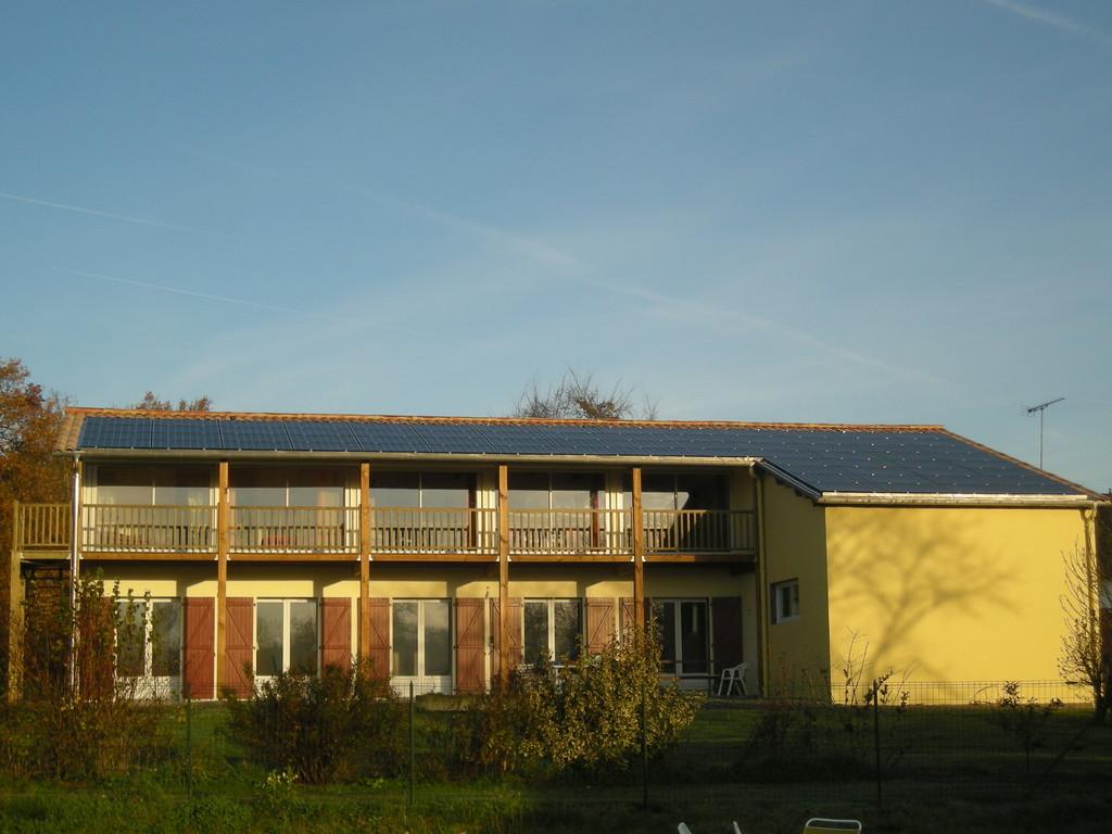 le toit photovoltaïque du gîte