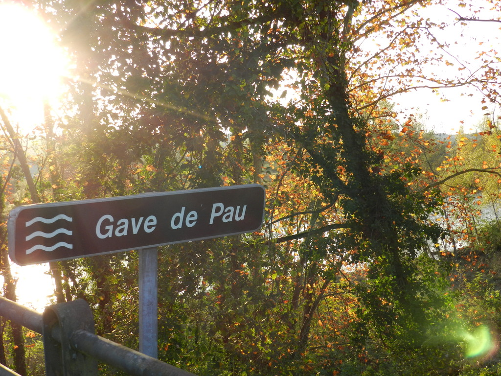 Le gave de Pau, vue du pont d'Argagnon