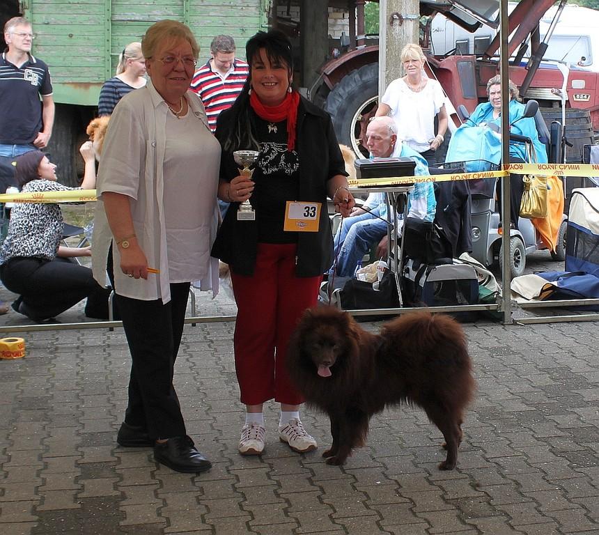 Grizzly bei der Sieger Ehrung.