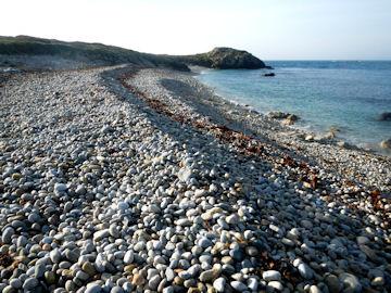 Courbes de galets sous l'effet de la marée