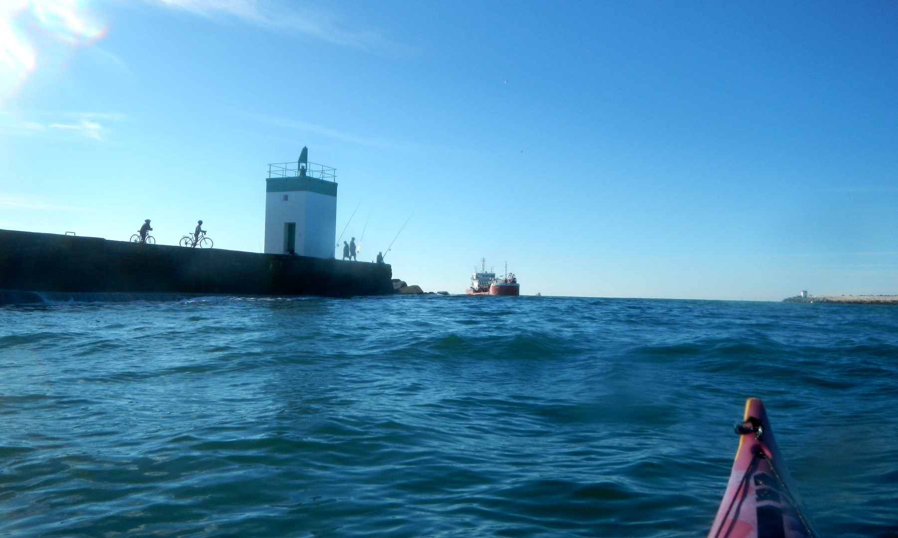 Sortie sur l'Océan, avec d'utres navires...