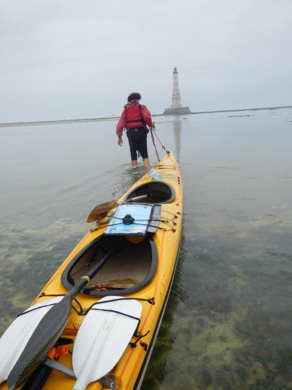 Dernier mètres à pied avec la marée basse