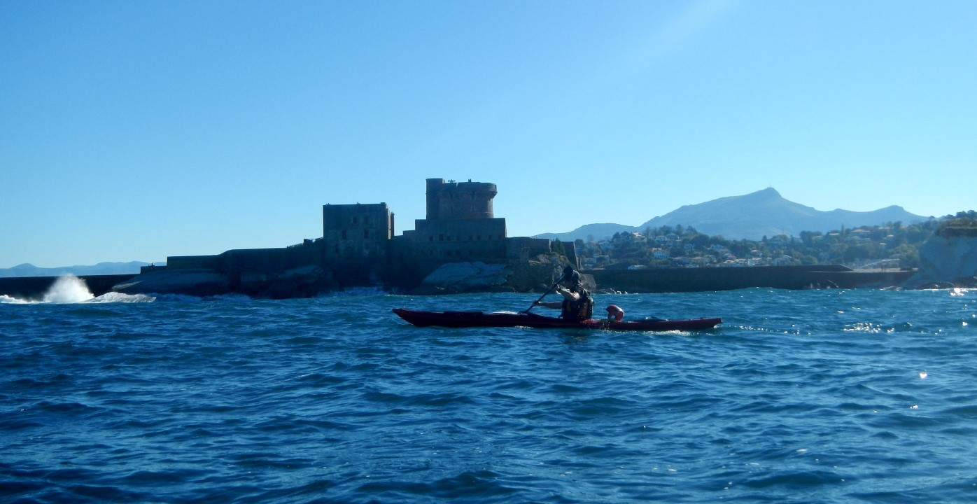 Le fort de Socoa, face vue de l'océan