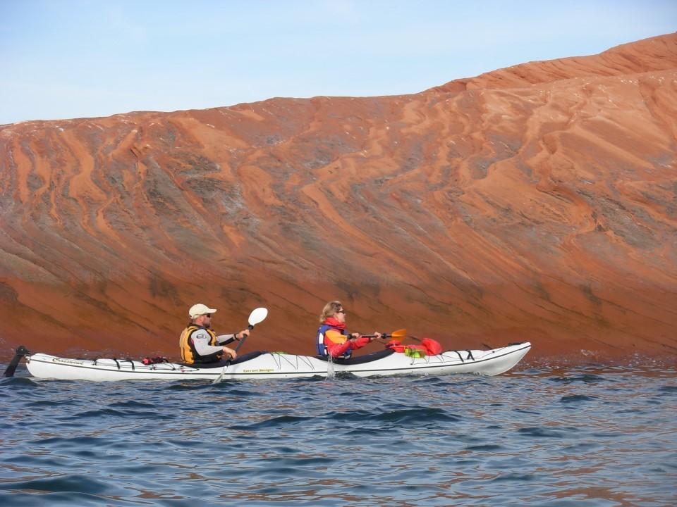 La navigation du premier jour, accompagnés de Sébastien l'expert et Sarah, journaliste