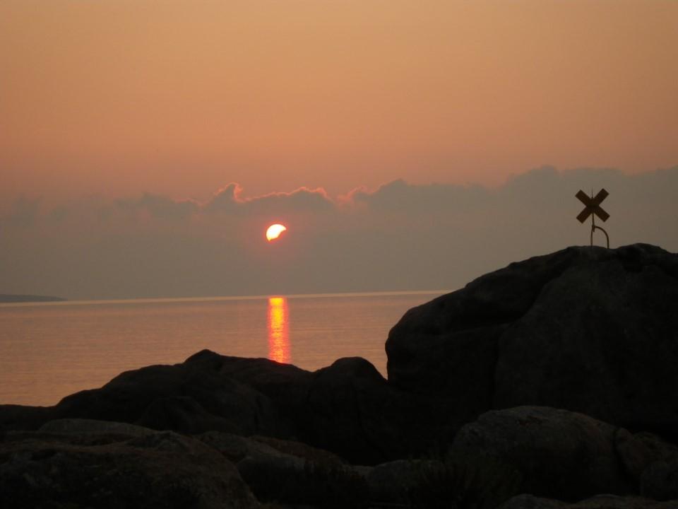 Levé de soleil lors de notre bivouac en limite de zone protegée