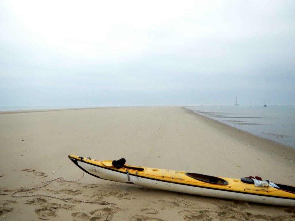 Halte sur le banc de sable