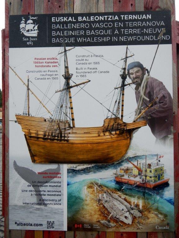 Le St Juan, c'est aussi le baleinier de 1565