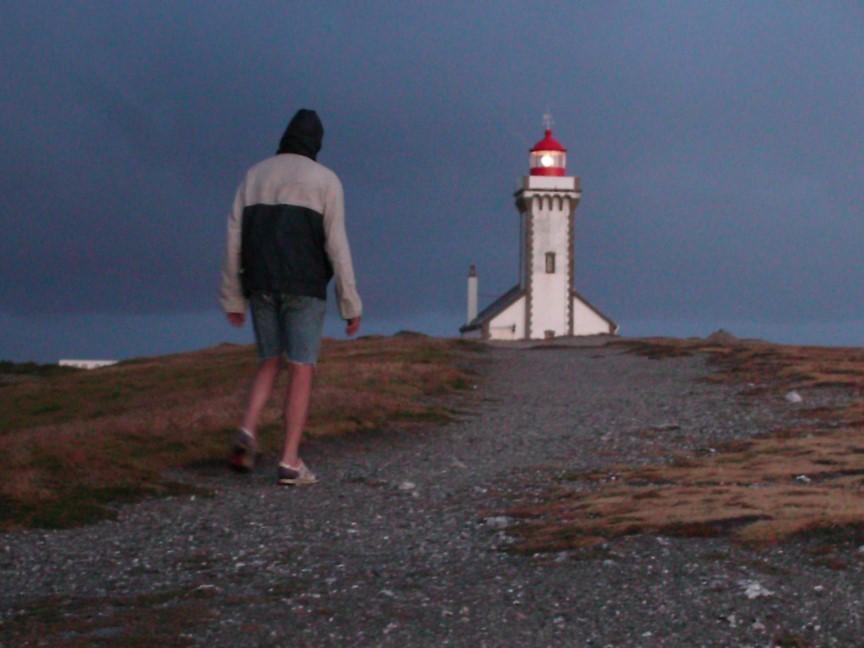 Approche du phare, sous la pluie !!