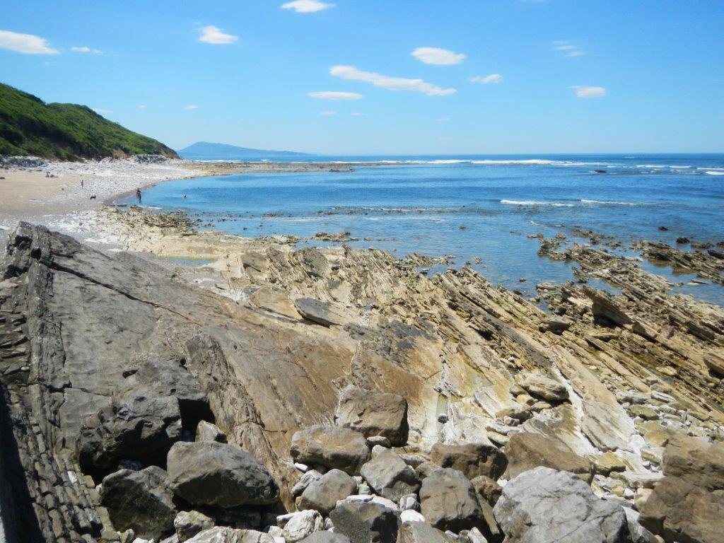 Départ de Guétary, marée basse