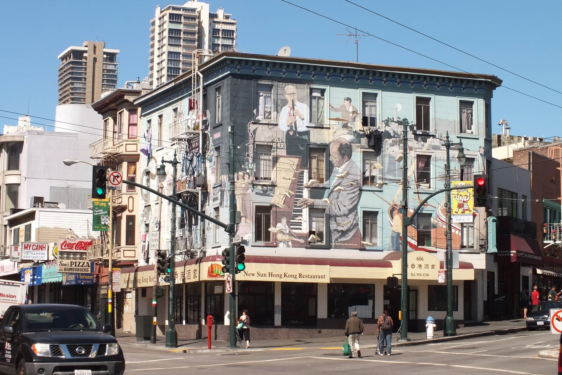 San Francisco - Hausbemalung als Totale