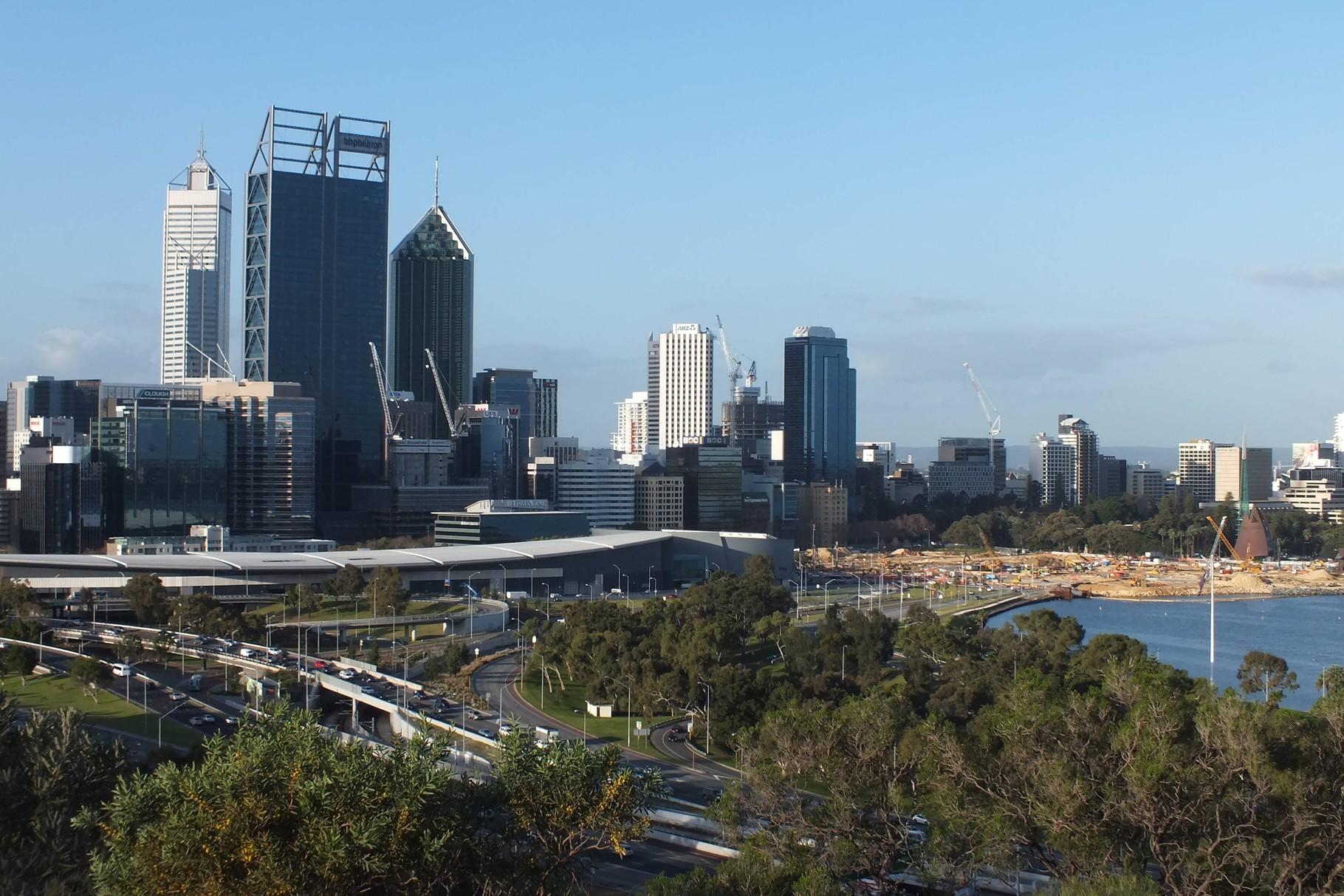 Skyline von Perth, WA