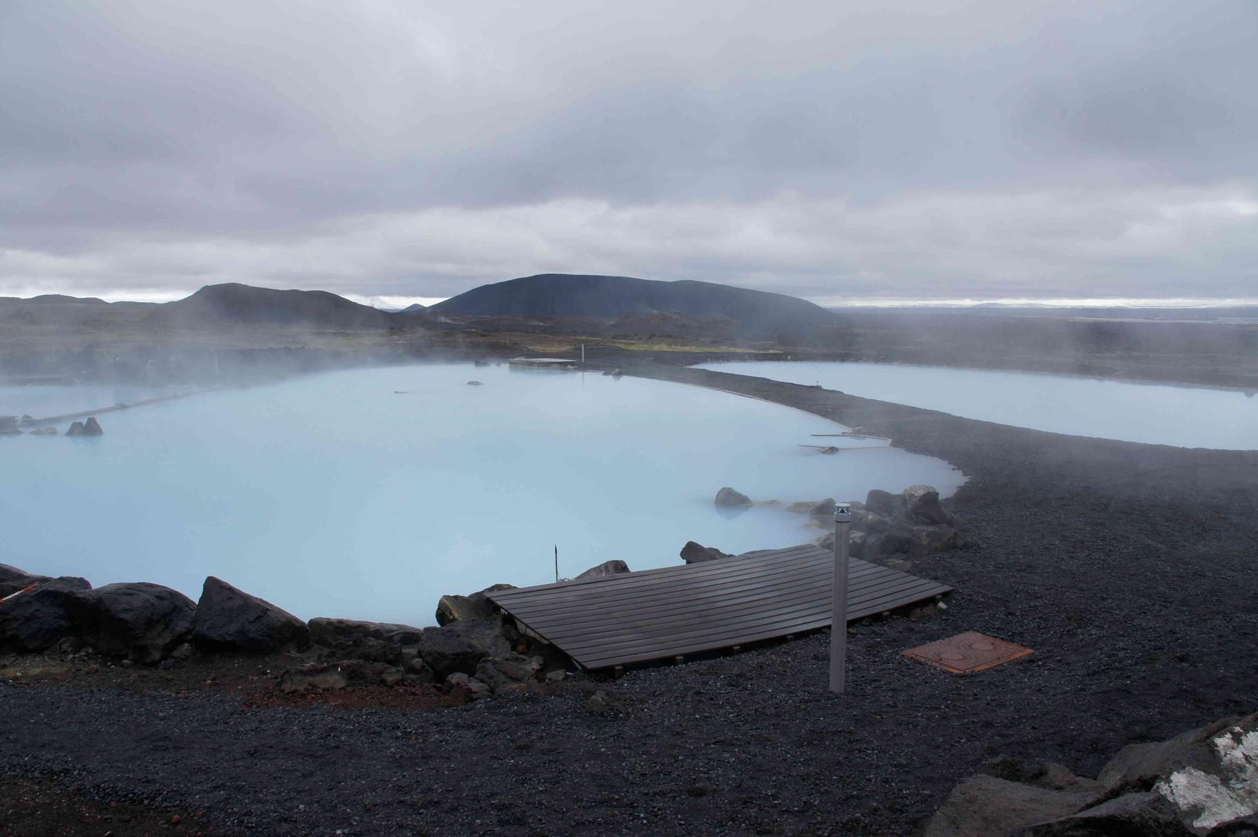 Blick auf Myvatn Nature Baths