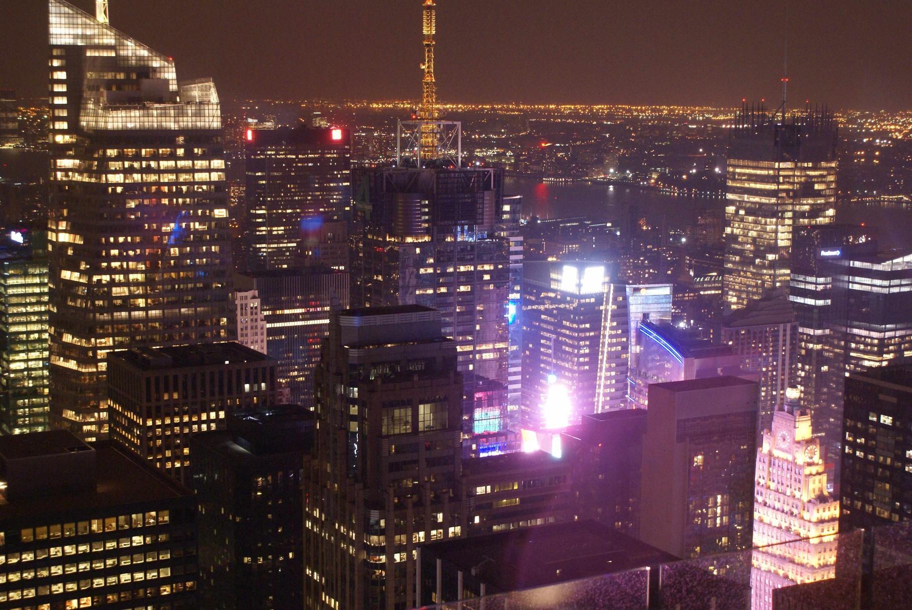 Times Square von der Aussichtsplattform des Rockefeller Centers