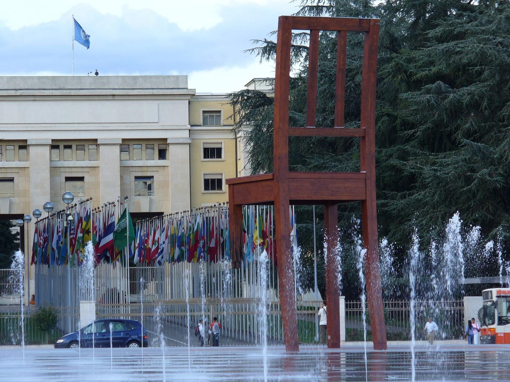 Genf - vor der UN