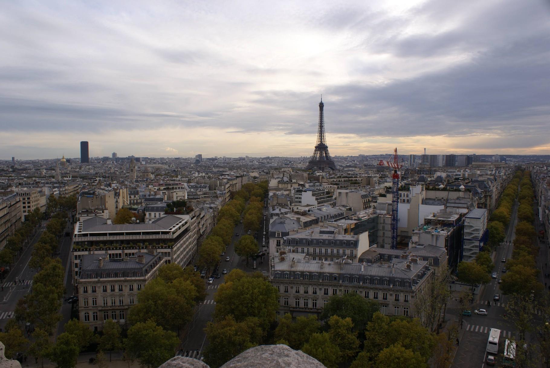 Paris - Blick vom Arc de Triomphe auf den Eifelturm