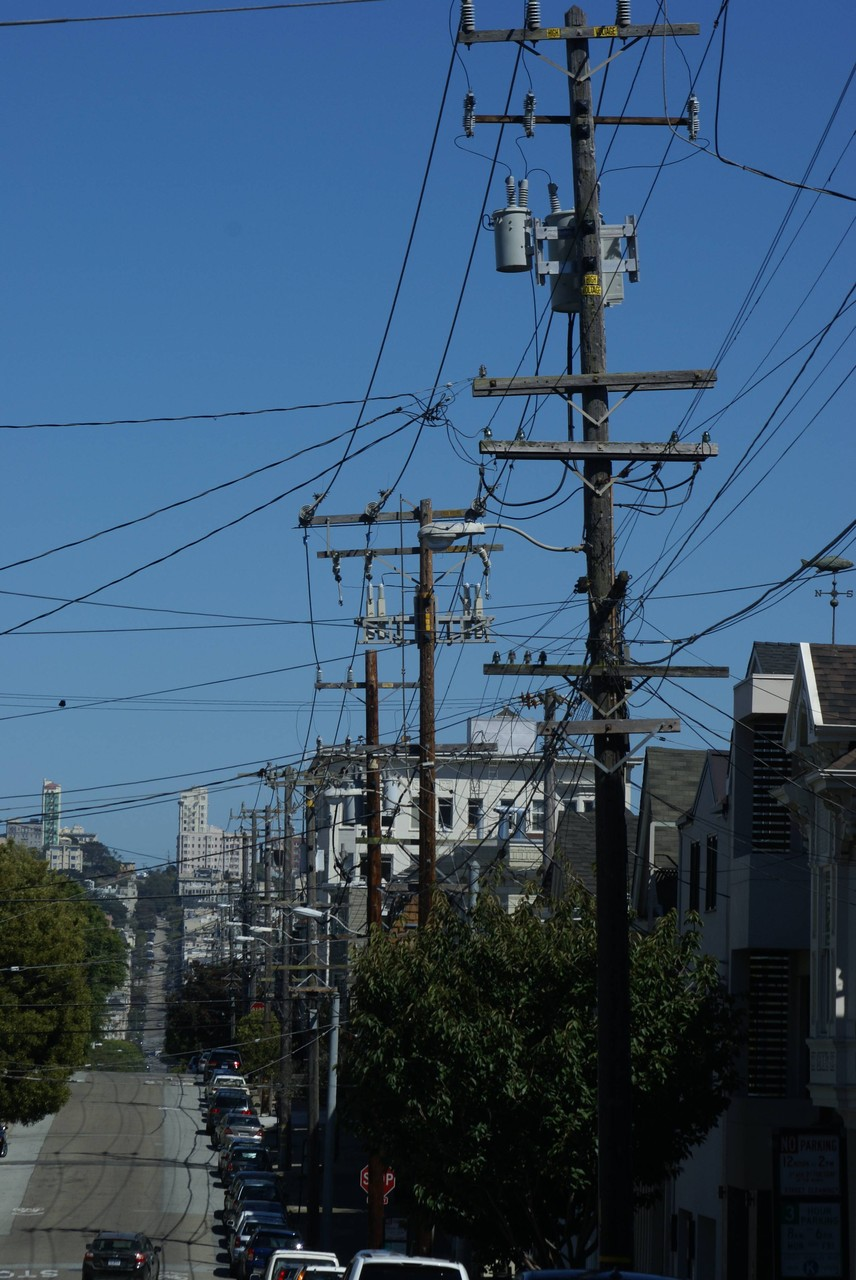 San Francisco - Strom- und Telefonkabelversorgung
