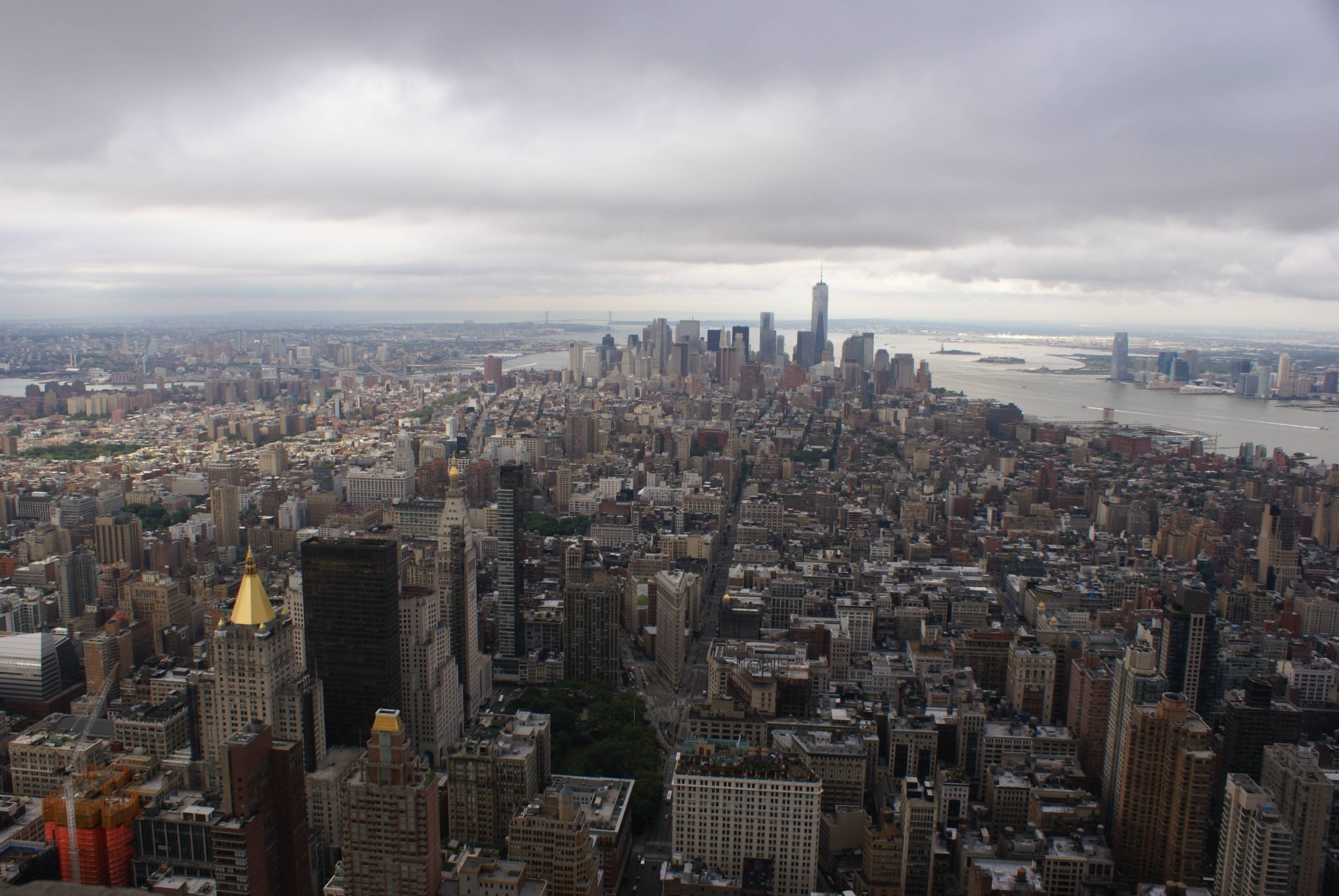New York - Blick aus dem Empire State Building auf Manhatten