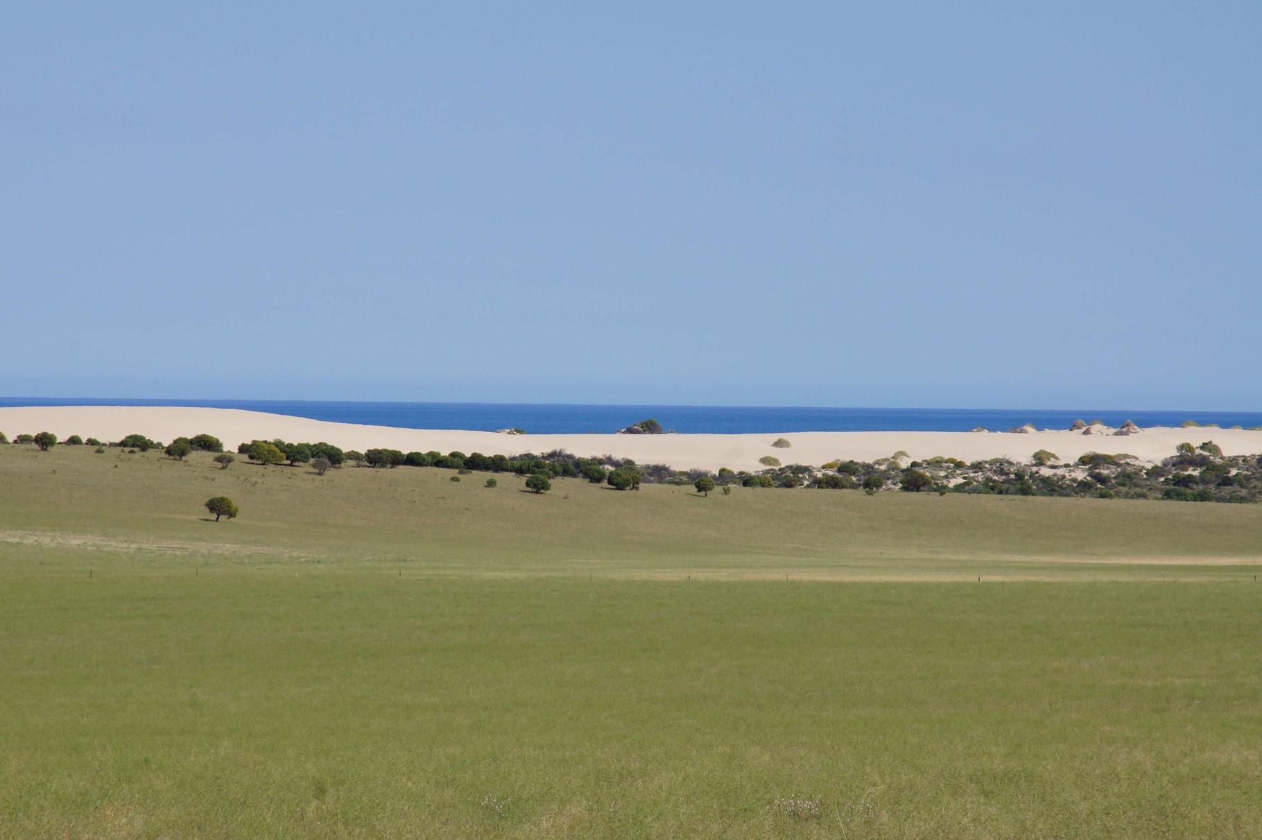 Vom Farmland geht es direkt über den Strand an den indischen Ozean