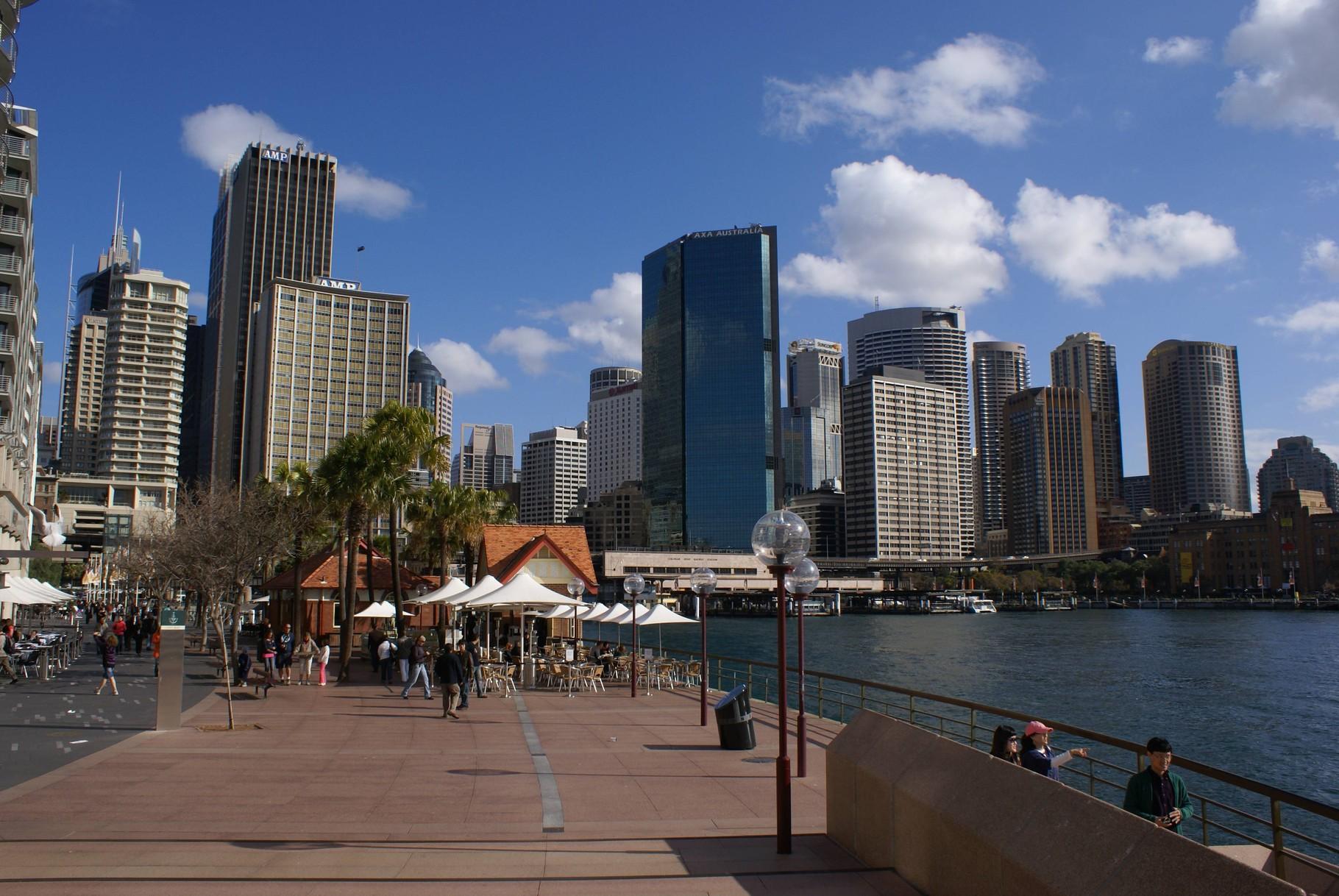 Hafen bei der Oper in Sydney, NSW