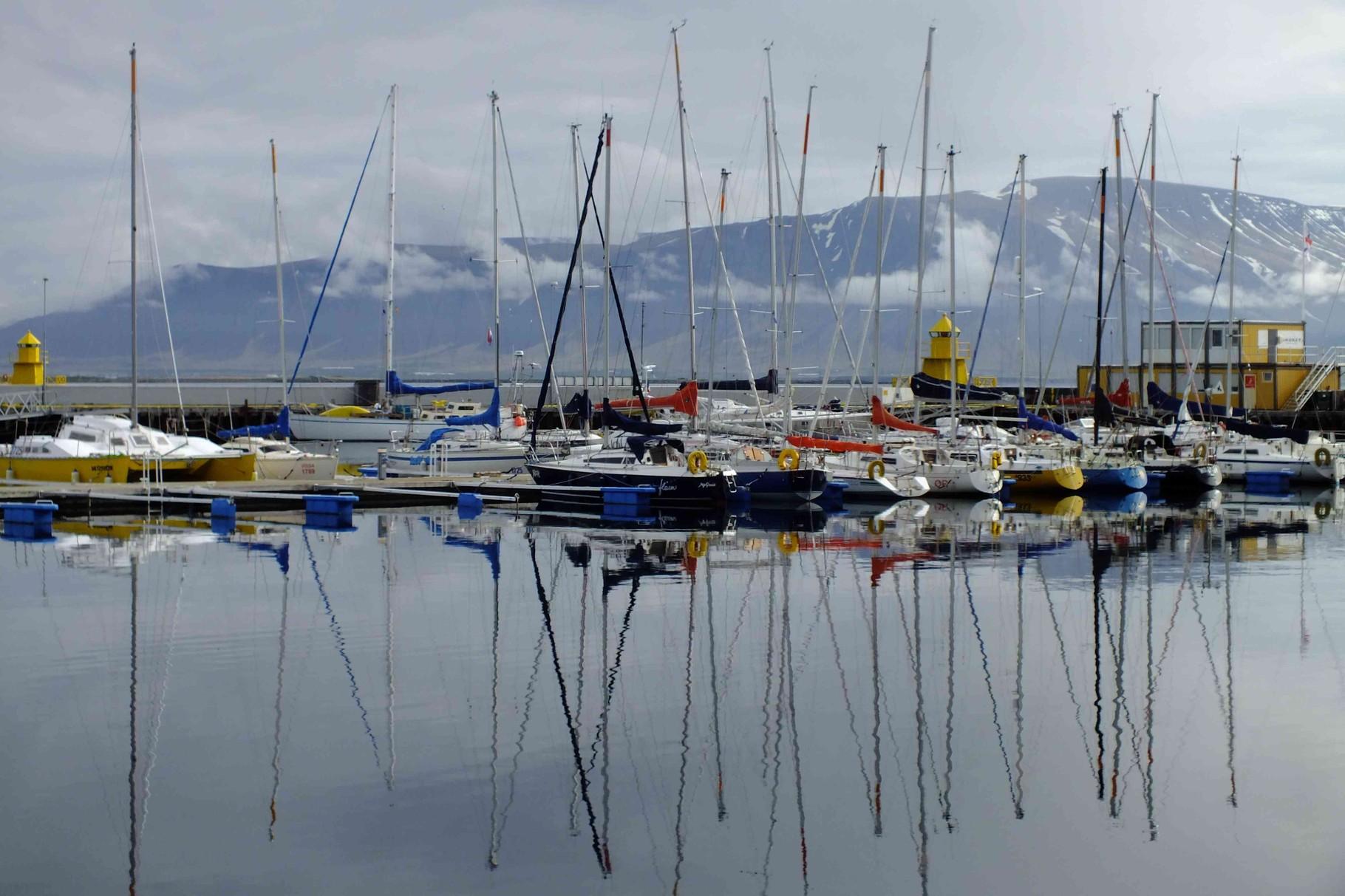 Yachthafen in Reykjavík