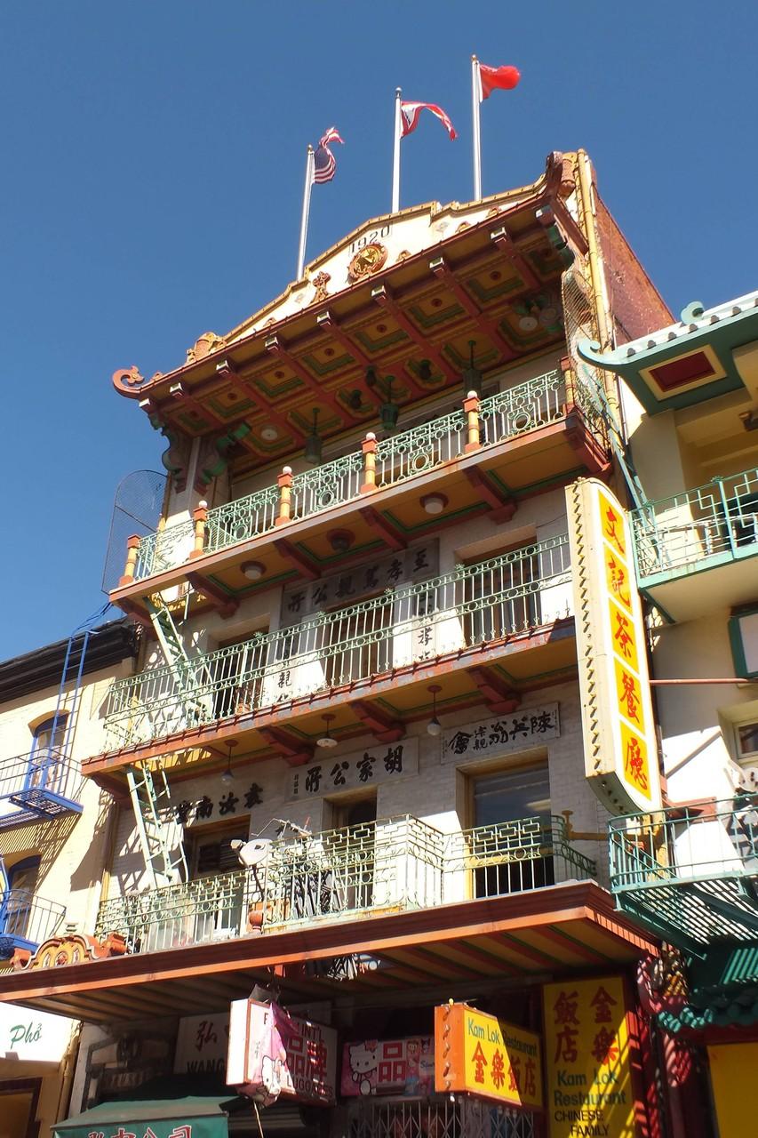 San Francisco - Haus im chinesischen Viertel