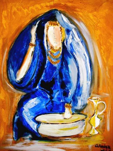 Femmes bleue