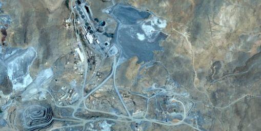 La mine, vue aérienne