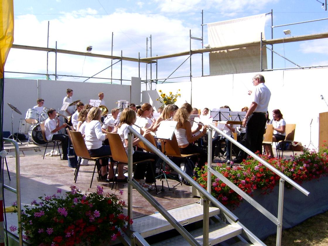 Auftritt beim Open Air Konzert