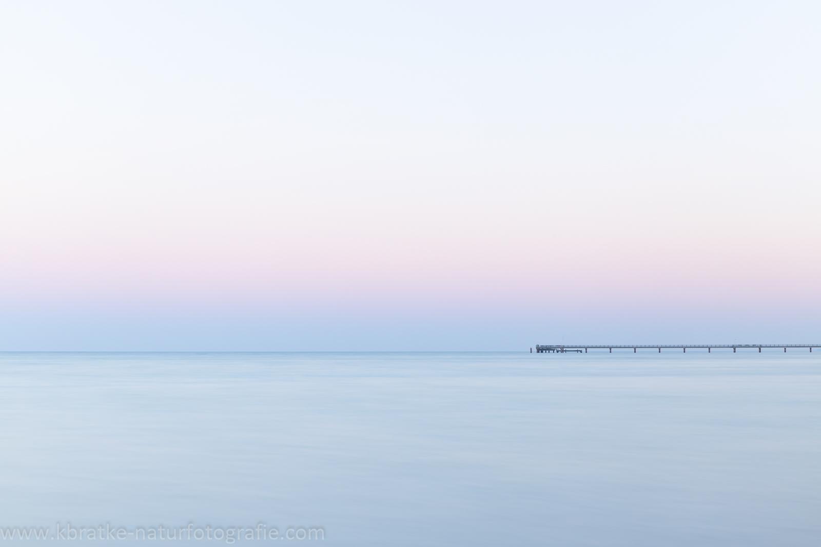 Seebrücke Prerow kurz nach Sonnenuntergang