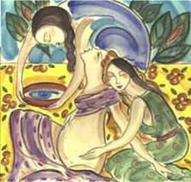 Doulas umsorgen eine Mutter während der Geburt