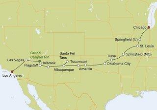 Mietwagenreise Route 66