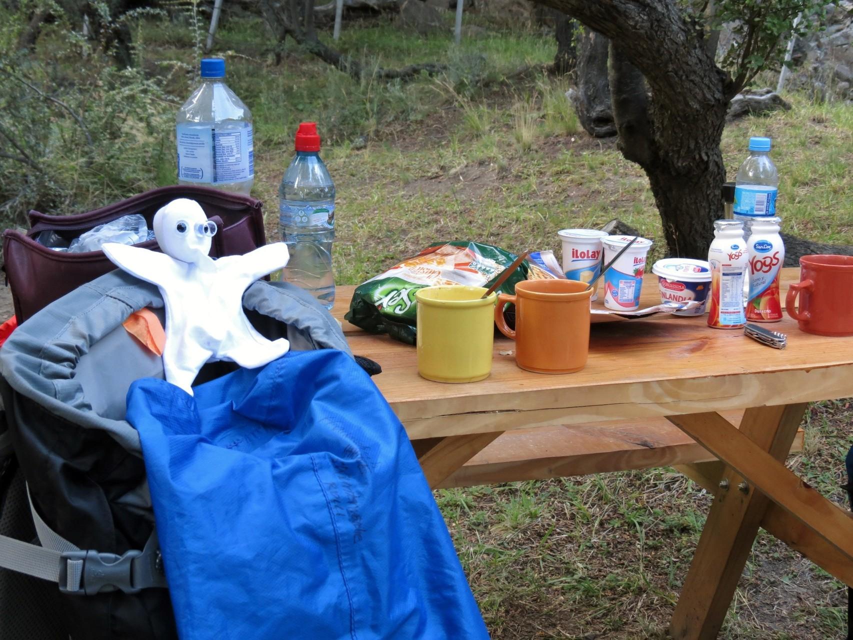 Me am Campingplatz voller Vorfreude
