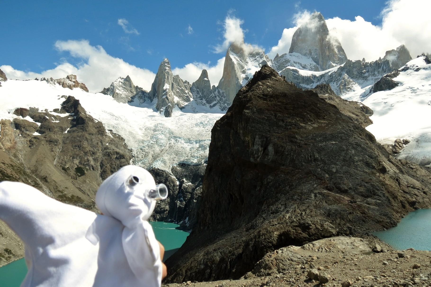 Me am Gipfel mit Blick auf FitzRoy