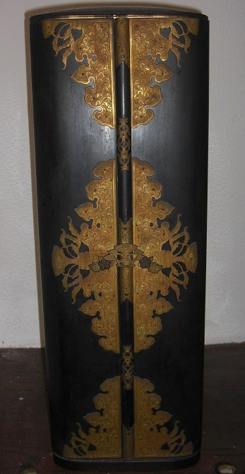 伊達家寄贈の聖徳太子像(当家波殿伊達家奉公あけの祝儀) 厨子