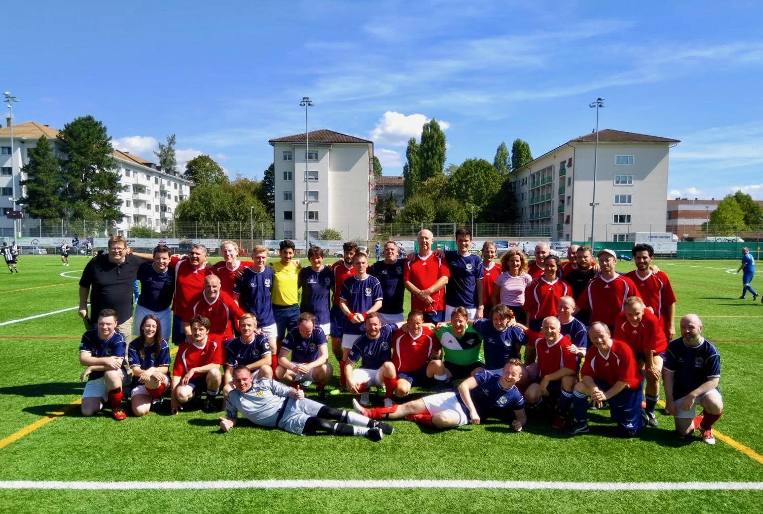 Auftakt am Samstag: Länderspiel Schriftsteller Nationalmannschaften Schweiz–Schottland