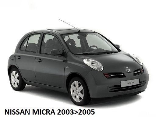 vente moins chère enfant sélectionner pour plus récent Nissan Micra K12 2003>05 - 2C Autoforniture ricambi ...