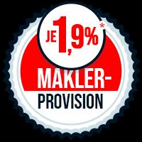 Maklerprovision Immobilienmakler Berlin Tegel 1,9% Provision