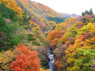 紅葉の吹割渓谷