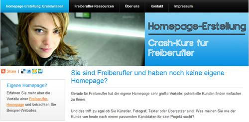 freiberufler website