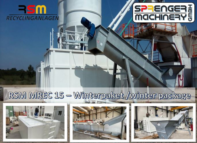 Sales, delivery, transport organization through to commissioning one of our mobile residual concrete washing systems RSM-MREC 15 include winter package - to cemex / Grünheide -Tesla  construction site- -